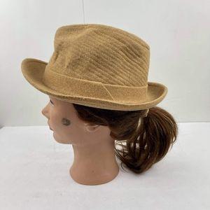Vintage Dobbs Fifth Avenue Tan Fedora Corduroy Hat